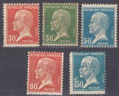FRANCE - 1923/1926 - Lotto Di 5 Valori Nuovi: Yvert 173, 174 E 181 MNH; 176 E 178 MH. - 1922-26 Pasteur