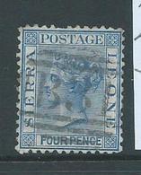 Sierra Leone 1872 QV 4d Blue Used , Short Perf. At Top - Sierra Leone (...-1960)