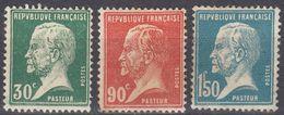 FRANCE - 1923/1926 - Lotto Di 3 Valori Nuovi MH: Yvert 174, 178 E 181. - 1922-26 Pasteur