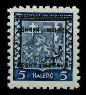 BÖHMEN U. MÄHREN Nr 1 Postfrisch Gepr. X70A346 - Bohême & Moravie