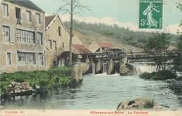 """/ CPA FRANCE 77 """"Villeneuve Sur Bellot, La Fabrique"""" - Frankrijk"""