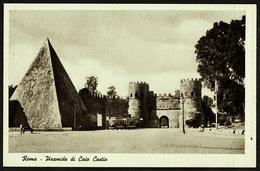 Rom / Roma  -  Piramide Di Cajo Cestio  -  Ansichtskarte Ca.1943  (10668) - Roma