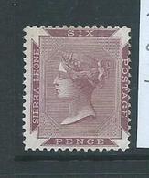 Sierra Leone 1889 QV 6d Purple Lake Attractive Mint - Sierra Leone (...-1960)