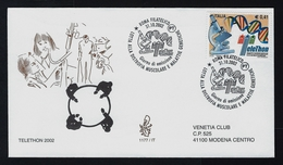 "2002 ITALIA ""TELETHON 2002"" FDC VENETIA - 6. 1946-.. Repubblica"