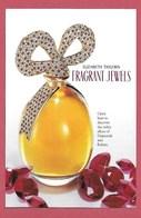 F- Carte Glacée Elisabeth Taylor Diamonds And Rubies   -  Perfume Card - USA - Duftkarten