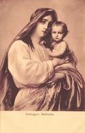 VINTAGE RELIGIOUS ART  BY FRANZ DEFREGGER- FRANZ HULD PUBL SEPIA PHOTO POSTCARD 40320 - Virgen Mary & Madonnas