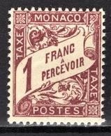 MONACO 1924 / 1932  N° 23  -  Timbres Taxe NEUF** /2 - Taxe