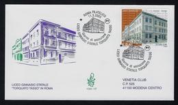 "2003 ITALIA ""LICEO GINNASIO STATALE TORQUATO TASSO"" FDC VENETIA - 6. 1946-.. Republic"
