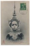 CAMBODGE - CPA - Phom-Penh - Pum, Une Des Premières Danseuses De S.M. Sisowath - Oblit Complaisante 1906 - Viêt-Nam