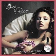 F- Carte à Rabat 5x5 Valentino  - Rock In Rose  Perfume Card - USA - Cartes Parfumées