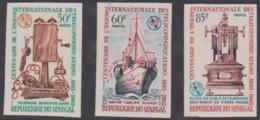 SENEGAL - 1965 IMPERF ITU Centenary - Ships. Scott 247-249. MNH ** - Senegal (1960-...)