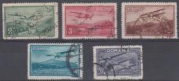 ROMANIA - 1931 Air Post. Scott C17-21. Used - Oblitérés