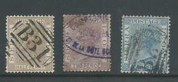 Sierra Leone 1883 QV Part Set 3 Used , One With Better Postmark - Sierra Leone (...-1960)