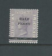 Sierra Leone 1893 QV 1/2d Surcharge MLH - Sierra Leone (...-1960)
