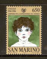SAN MARINO 1986 UNICEF Scott Cat. No(s). 1114 MNH - San Marino