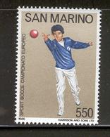 SAN MARINO 1986 European Bocce Championships Scott Cat. No(s). 1115 MNH - San Marino