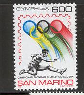 SAN MARINO 1987 Olympic Emblem, Athlete  Scott Cat. No(s). 1139 MNH - San Marino