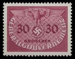 GENERALGOUVERNEMENT DIENST Nr 7 Postfrisch X889F56 - Besetzungen 1938-45