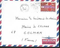 Côte D' Ivoire   Lettre  Du  06 09 1966   De  Bouaké     Pour Colmar - Côte D'Ivoire (1960-...)