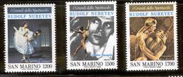 SAN MARINO 1989 Rudolf Nureyev Scott Cat. No(s). 1187-1189 MNH - San Marino