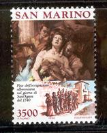 SAN MARINO 1990 The Martyrdom Of St. Agatha Scott Cat. No(s). 1197 MNH - Unused Stamps