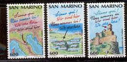 SAN MARINO 1990 European Tourism Year Scott Cat. No(s). 1198-1200 MNH - Unused Stamps
