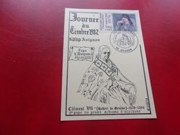 FRANCE (1982) Journée Du Timbre AVIGNON - Cartes-Maximum