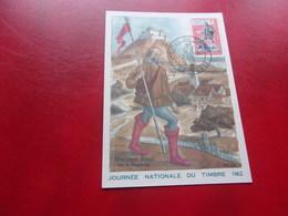 FRANCE (1962) Journée Du Timbre GRENOBLE - Cartes-Maximum