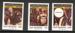SAN MARINO 1990 Sir Laurence Olivier Scott Cat. No(s). 1202-1204 MNH - Unused Stamps
