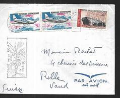 Centrafrique     Lettre  De  Bangui  Pour  Rolle  (Suisse ) - Centrafricaine (République)