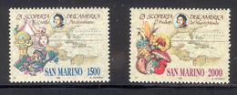 SAN MARINO 1990 Discovery Of America-Christopher Columbus Scott Cat. No(s). 1210-1211 MNH - Christopher Columbus
