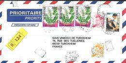 Sénégal Lettre Recommandé Du 23 04 2005  De Dakar Vers Turckeim  ( Alsace ) Oblitération Tardive - Sénégal (1960-...)