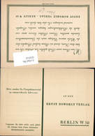 609542,Reklame AK Ernst Rowohlt Verlag Berlin Reklame Postkarte - Werbepostkarten