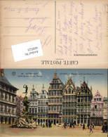 609523,Anvers Antwerpen Flandern Gilden Huizen Groote Markt - Ohne Zuordnung