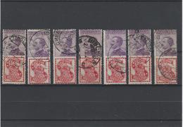 Italia Regno ,francobolli Pubblicitari ,usati ,splendidi ,7 Esemplari - 1900-44 Vittorio Emanuele III