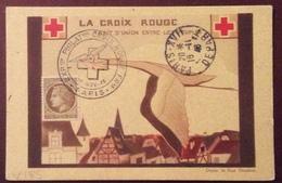 V185 Exposition Philatélique Croix Rouge 13/11/1946 Paris CPA Trait D'Union Entre Les Peuples Paris Départ 16/11/1946 - Croix Rouge