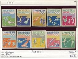 Albanien - Albanie - Albania - Michel 870-879 - ** Mnh Neuf Postfris - Olympiade Tokyo 1964 - Albanien