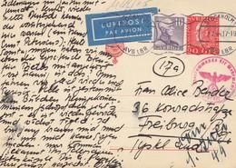 Schweden: 1944: Luftpost Ganzsache Stockholm Nahc Freiburg, OKW Zensur - Sweden