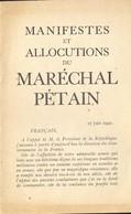 13 Allocutions Du Maréchal Pétain - 1939-45