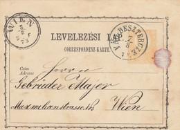 1873: Postkarte Vág-Besztercze Nach Wien - 1850-1918 Empire