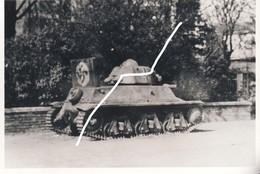 13 Bataille De Mons Septembre 1944. Un Blindé H-39 Français De Prise Abandonné. Repro - 1939-45