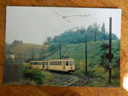 WASMES +TRAM:PHOTO 10X15 LE TRAM  ARRIVEE DU CONVOI DANS LA LOCALITE 15/07/1965 - Mons