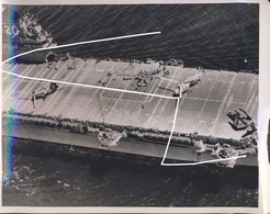 13 1954 Aircraft Carrier Bennington With Helicopters. Press Photo - Aviation