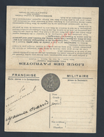 MILITARIA CARTE EN FRANCHISE ILLUSTRÉE  MILITAIRE REMERCIMENT DE MAURICE OZARRÉS ? : - Guerre De 1914-18