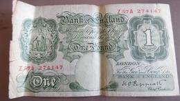 Billet 1£ Pound ROYAUNE UNI - …-1952 : Ante Elizabeth II