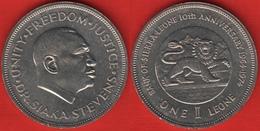 "Sierra Leone 1 Leone 1974 Km#26 ""Bank Anniversary"" UNC - Sierra Leone"