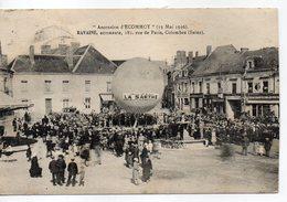 DPT 72 . - . ECOMMOY - ASCENSION D'ECOMMOY ( 13 Mai 1926 ) RAVAINE AERONAUTE.. CIRCULEE EN 1929 - Dirigeables