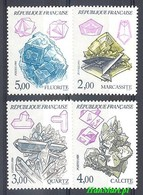 France 1986 Mi 2562-2565 MNH ( ZE1 FRN2562-2565 ) - Minerali