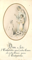 CANIVET IMAGE RELIGIEUSE DIEU A FAIT L'EUCHARISTIE  ALFORTVILLE 1954 - Andachtsbilder