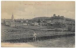 Vaour Vue Générale Et Le Chateau - Vaour